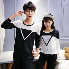 Find More T-Shirts Information about Triangle cotton korean couple shirts with long sleeves couple clothes couples matching clothing for couples Q806,High Quality shirt and pants set,China shirt fold Suppliers, Cheap shirt gradient from Kibela on Aliexpress.com