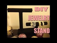 Jewelry Stand - this is more like what I was thinking about doing. DIY Jewelry Stand -DIY Jewelry Stand - this is more like what I was thinking about doing. Diy Jewelry Stand, Jewelry Organizer Stand, Jewelry Show, Jewelry Organization, Diy Jewelry Videos, Jewelry Crafts, Diy Baby Quilting, Diy Dog Gate, Diy Makeup Setting Spray