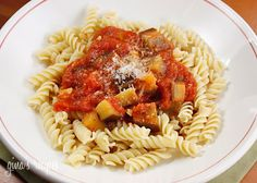 Eggplant and Tomato Sauce - When you are in the mood for a vegetarian meal, this is a nice quick weekday dish.