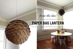 From the Bin: Paper Bag Lanterns - A fun project for that the whole family can participate in...