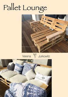 #DIY #palletsofa #Lounge for inside and outside. #inside #lounge ... - Pallet ideas