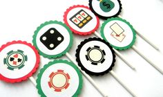 12 Viva Las Vegas Cupcake Toppers by thepartypenguin on Etsy, $9.80