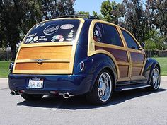 PTEAZER - Blue woody with Tear Drop Tail Lights