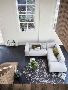 De heerlijk riante Dunbar bank van FEST Amsterdam #hoekbank #couch
