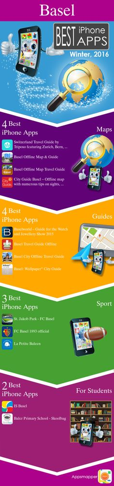 Basel iPhone apps: Travel Guides, Maps, Transportation, Biking, Museums, Parking, Sport and apps for Students.