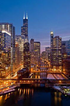 Chicago River City View - Steve Gadomski