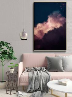 abstract art cloud painting print cloud print cloudscape art print large wall art abstract wall art cloud art ready to hang Simple Interior, Interior Design, Painting Prints, Art Prints, Art Paintings, Large Painting, Grand Art Mural, Traditional Frames, Cloud Art