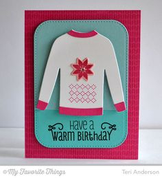 Cozy Greetings, Sweater Stitch Background, Comfy Sweater Background, Stitched Rounded Rectangle STAX Die-namics - Teri Anderson #mftstamps