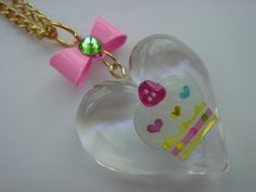 Lucite Cupcake Necklace