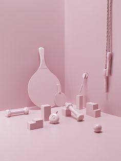 pink everything #setdesign