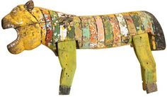 Antique Wooden Painted Animal
