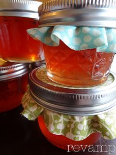 Mmmm...Homemade pepper jelly!  Love this on a cracker with cream cheese.  Must make!