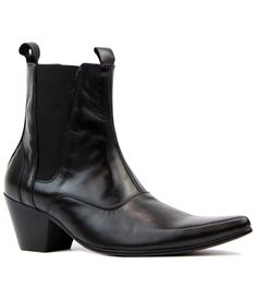 Outlaw Retro 60s Mod Cuban Heel Chelsea Boots in Black Leather from Madcap England  #madcapengland #outlaw #retro #60s #mod #fashion #shoes #boots #outlaw #chesleaboots #mens