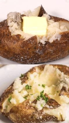 The Best Oven Baked Potatoes Wondering how restaurants get those perfectly baked potatoes? Here's the hints on how to make the best oven baked potatoes with salty, crispy skin and fluffy potato inside. Best Oven Baked Potatoes, Russet Potato Recipes, Scalloped Potato Recipes, Baked Potato Recipes, Potato Dishes, Food Dishes, Oven Potatoes, How To Bake Potatoes, Kitchen