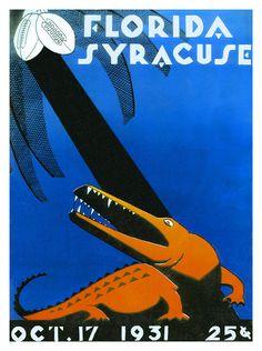 1931 Florida Gators vs Syracuse Orange 36 x 48 Canvas Historic Football Print