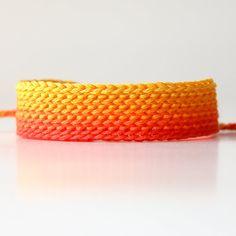 Orange Friendship Bracelet, Ombre Bracelet, Wide Friendship Bracelet made by Mary Redaelli, Orange, CA, United States