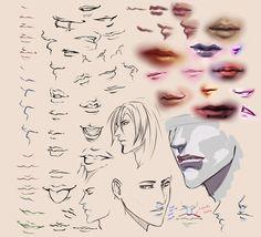 Drawing Lips by moni158.deviantart.com on @deviantART