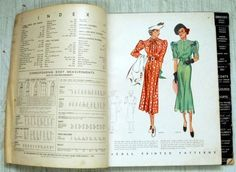 McCall Patterns catalogue, August 1936 featuring McCall 8882 and 8878