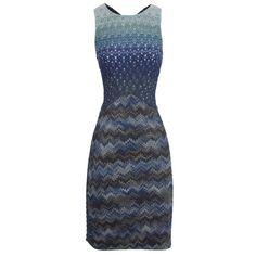 Hirshleifers - Missoni - Crocheted Sleeveless Dress (Blue Multi),  (http://www.hirshleifers.com/ready-to-wear/dresses/missoni-crocheted-sleeveless-dress-blue-multi/) #MMissoni #Shapes