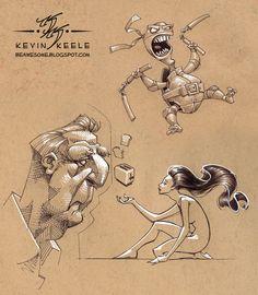 Kevin Keele- sketchbook. I like the girl