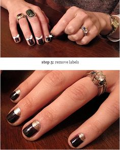 Use paper hole reinforcements to give yourself a half-moon manicure. | 35 Lifechanging Ways To Use Everyday Objects