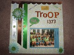 """My Troop"" by Lorri Williams, as seen in the Club CK Idea Galleries. #scrapbook #scrapbooking #creatingkeepsakes"