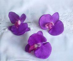 Silk Flowers purple orchids DIY Bride by BudgetWeddingBouquet