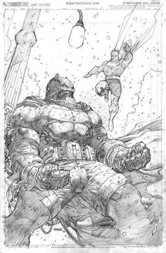 Batman DKIII The Master Race, Book Two variant cover art by Jim Lee sketch version step 3