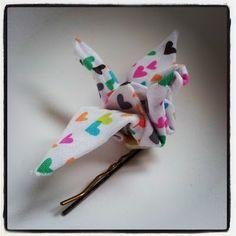 P'tite Poulette: Ma barrette origami (tuto inside)