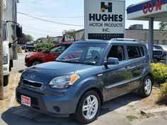 2011 #Kia Soul 2u Hatchback that is a 4 cylinder FWD passenger vehicle. Comes complete with: privacy glass, alloy wheels, heated front bucket seats, Air, bluetooth handsfree, power: steering, mirrors, doors, locks, windows. AM/FM/CD, 60/40 split-folding pass-thru rear seat, full safety features, fender integrated turn signals, full instrumentation.  Hughes Motor Products  info@hughesmotorproducts.com | 416-252-1100 #usedcar #usedcars