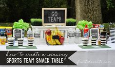 How to Create a Winning Sports Team Snack Table. Mom, are you in charge of team…