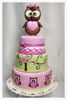 D Owl Cake Images