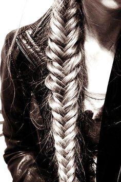 Fishtail Braid i want my hair this long