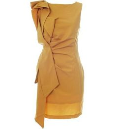 Not sure if my skin tone could rock the mustardy-gold tones of this Manila Origami Dress, but I would love to try.