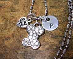 Bling Dog Necklace Dog Jewelry Personalized Dog by CharmAccents, $20.00