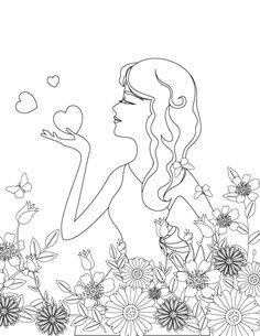 Saint Valentin A Colorier Adult Valentine Coloring Page