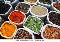 Indian Colored Spices At Anjuna Flea Market In Goa, India Stock Photo 135940190 : Shutterstock