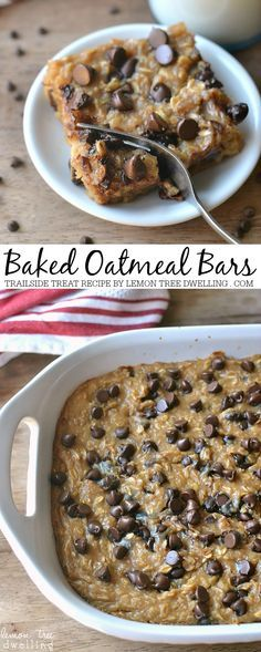 Treat Baked Oatmeal Great for breakfast or everyday snacks. A healthy recipe for baked oatmeal bars.Great for breakfast or everyday snacks. A healthy recipe for baked oatmeal bars. Delicious Desserts, Dessert Recipes, Yummy Food, Jello Recipes, Kid Recipes, Whole30 Recipes, Vegetarian Recipes, Recipies, Dessert Bars