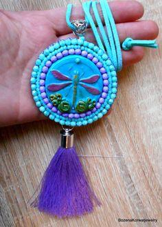 Dragonfly pendant by BozenaKorwatJewelry on Etsy