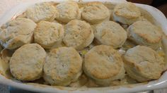 Crock Pot chicken --> baked chicken 'n biscuits