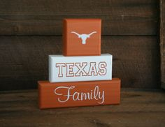 """Texas Longhorns UT Family Blocks """"Ready to Ship"""""""