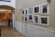 diy gallery wall with old family picturs diy, foyer, home decor, wall decor Diy Sofa Table, Diy Dining Table, Sofa Side Table, Built In Sofa, Glass Light Shades, Diy Daybed, Fireplace Remodel, Diy Barn Door, Tile Installation