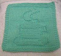 Coffee Cup Cloth Free Knitting Pattern from the Dishcloths Free Knitting Patterns Category and Knit Patterns