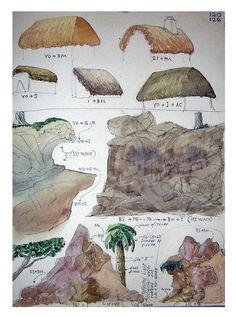 Vintage Original Watercolor Painting Study by BlueOnionCurios