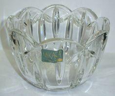 June Sale Crystal Mikasa Bowl Germany PALAIS by Snowyowltreasures