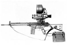 ZG 1229 Vampir. Crews of infrared night-vision devices mounted vehicles were also armed with MP44/StG44 assault rifles fitted with infrared night-vision device – ZG 1229 Vampir (Vampire). Only small number of IR sets forassault rifles was produced.
