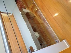 Glass stair wall