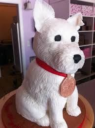 Puppy Cake By SweetDiscoveries. I could never do this, I am horrible at sculpting, but this is super cute. Westie Puppies, Westies, Dog Cakes, Cupcake Cakes, Cupcake Ideas, Cupcakes, 2nd Birthday Parties, Happy Birthday, Birthday Cakes