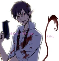 Tags: Anime, Fanart, Pixiv, Ao no Exorcist, Okumura Yukio