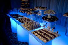 desert bar - ice cream shake shooters, chocolate dipped oreos, cupcakes, brownies